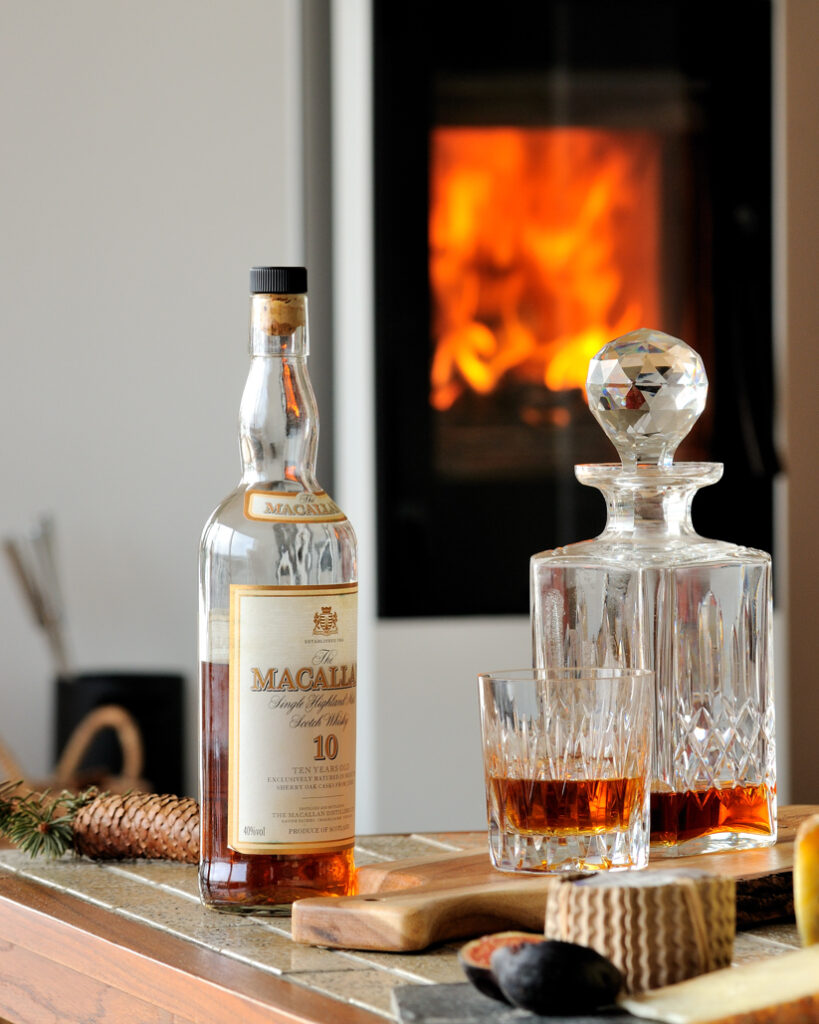 Enjoy a dram by the fire